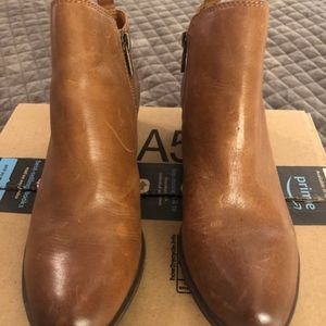 Lucky Brand Tan Bootie Size 10